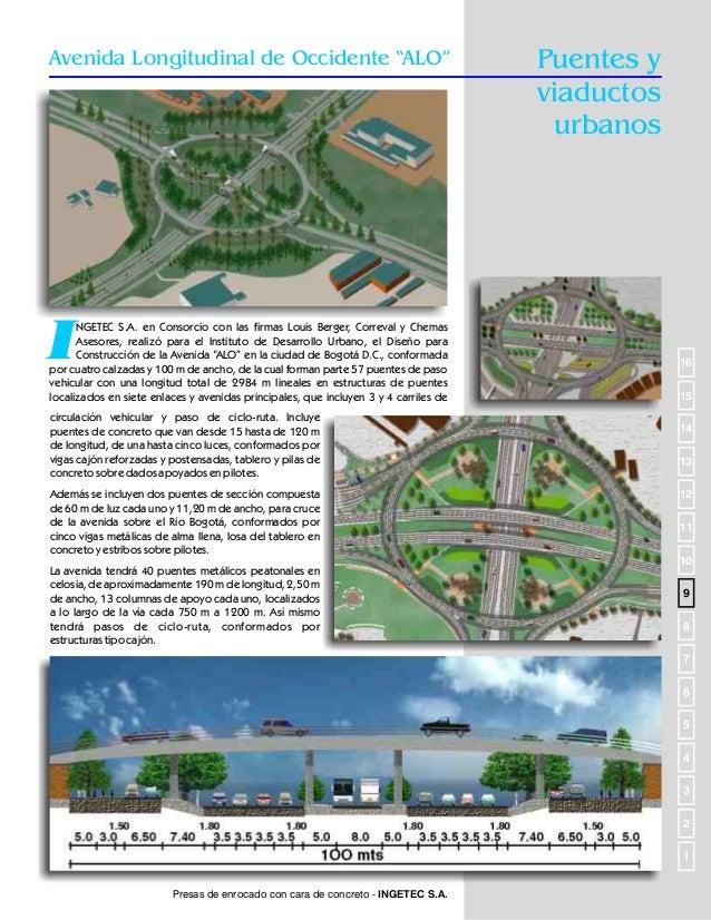 Puentes y viaductos urbanos  Avenida El Polo  I  NGETEC S.A., ejecutó para el Instituto de Desarrollo Urbano, el prediseño...