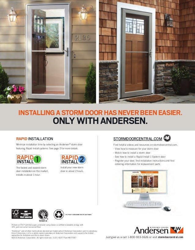 Brochure Storm Screen Door 9077597