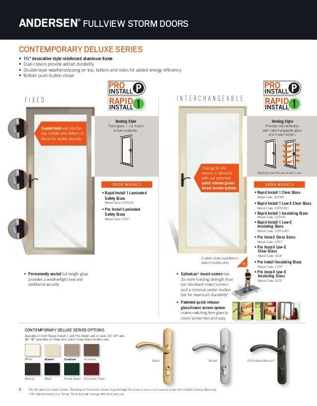 Brochure Storm Screen Door 9077597