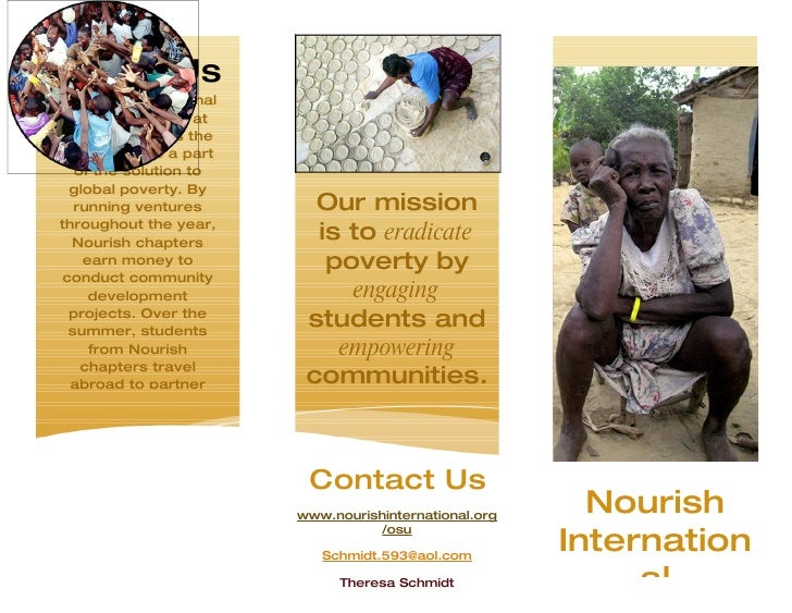 About Us Nourish International   invites students at  colleges across the country to be a part    of the solution to   glo...