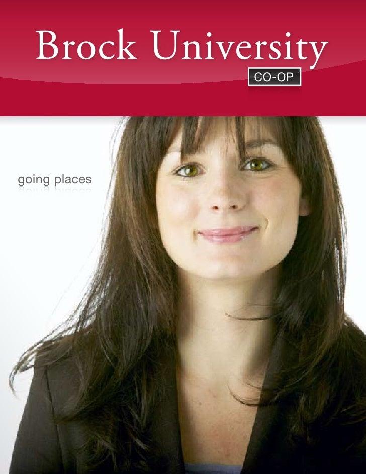 Brock University           st. catharines, ontario / phone 905.xxx.xxxx / www.brocku.ca                    co-op          ...