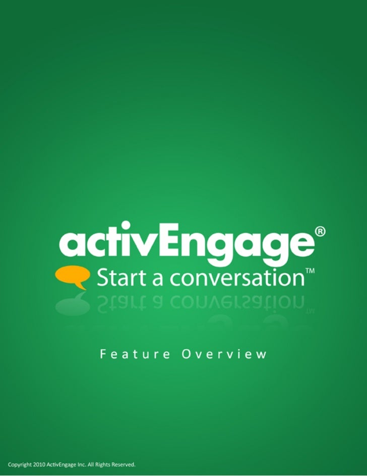 Active Engage Dealer Chat Brochure 2010