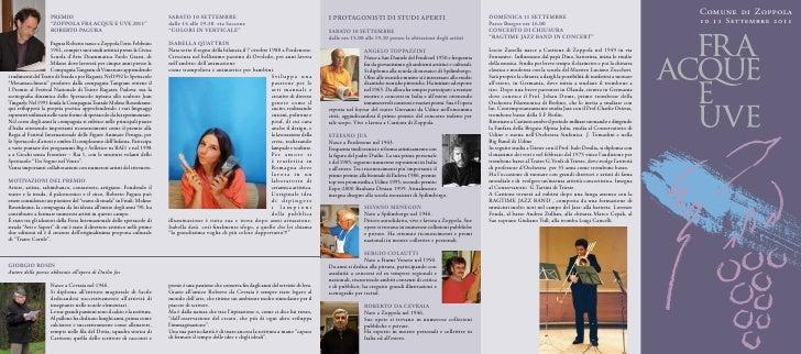 Comune di Zoppola                      Premio                                                  Sabato 10 Settembre        ...