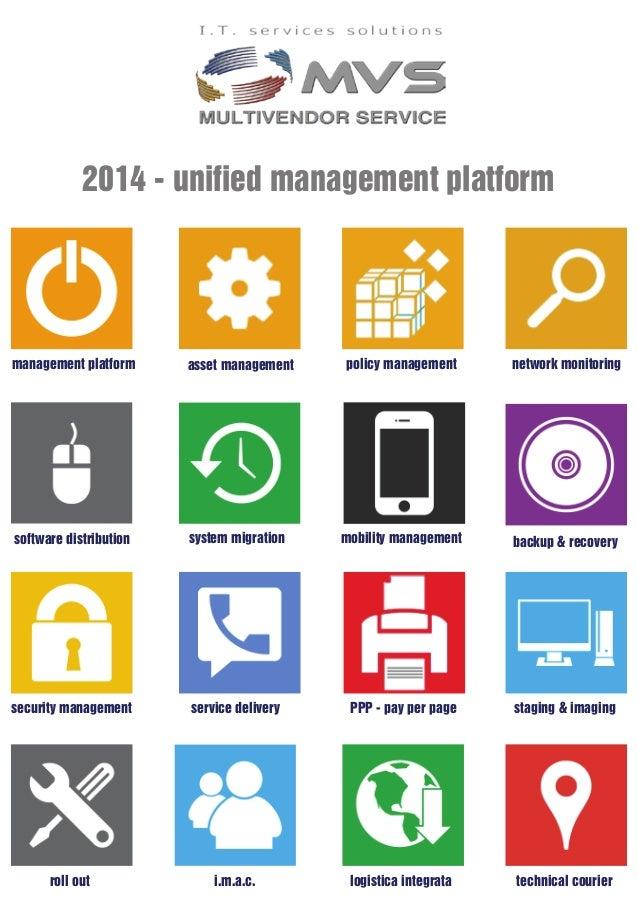2014 - unified management platform management platform network monitoringasset management backup & recoverymobility manage...