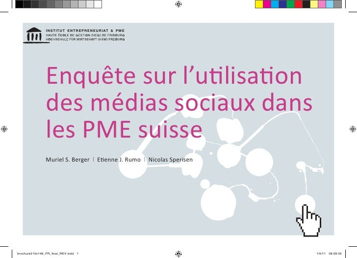 InstItut EntrEprEnEurIat & pME                Enquête sur l'utilisation                des médias sociaux dans            ...