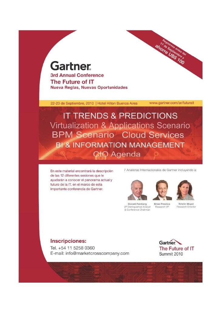 """Gartner, """"The Future of IT"""" - Brochure"""