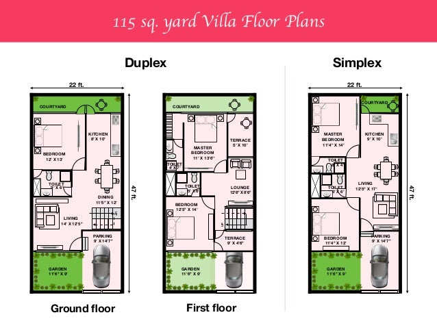 House Plan 120 Yards Duplex House Plans In 120 Sq Yards