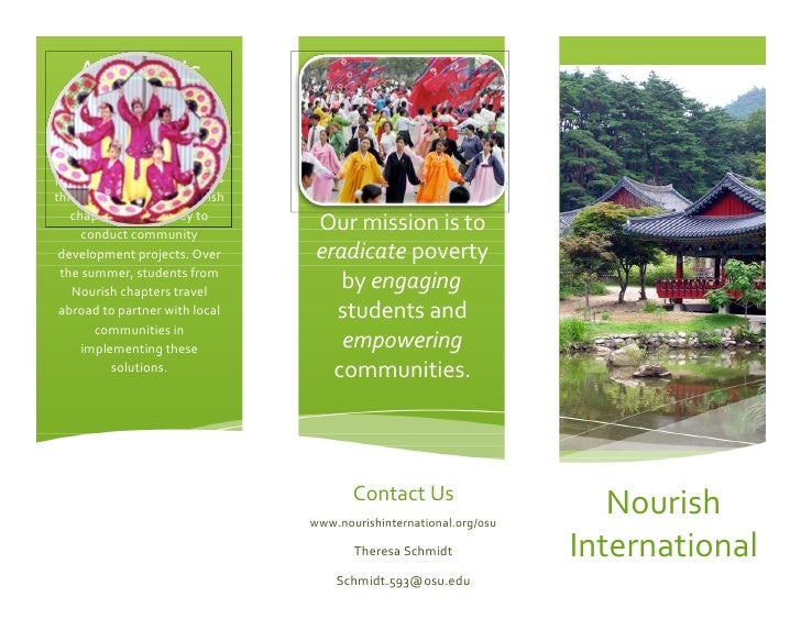 About Us Nourish International invites  students at colleges across   the country to be a part of     the solution to glob...