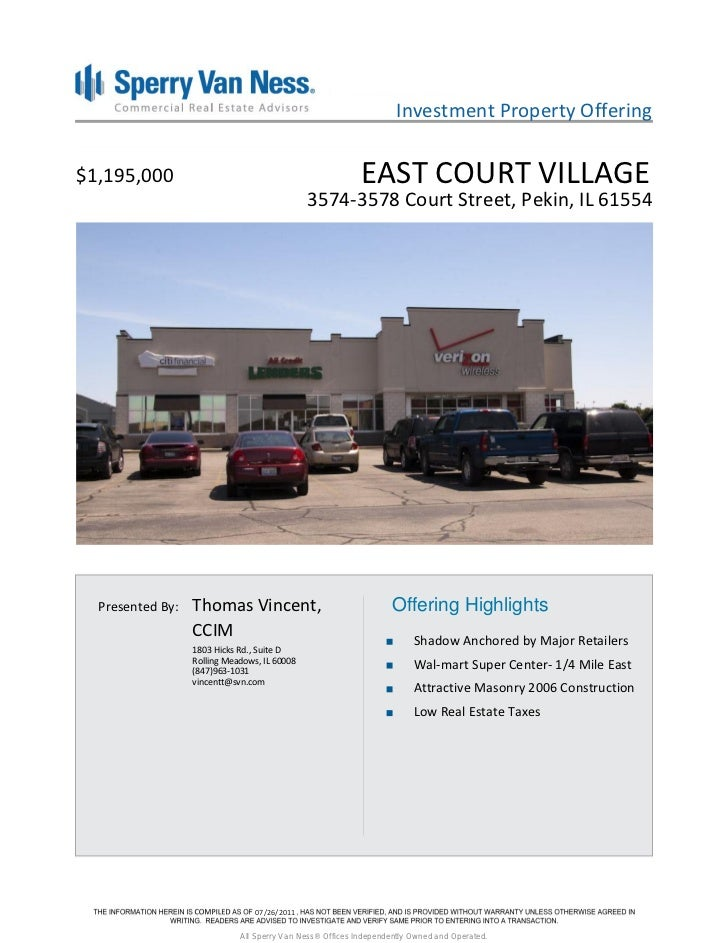 Investment Property Offering$1,195,000                                                 EAST COURT VILLAGE                 ...