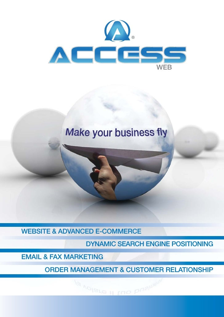 WEB     WEBSITE & ADVANCED E-CommErCE                 DyNAmIC SEArCh ENgINE poSITIoNINg EmAIl & FAx mArkETINg       orDEr ...