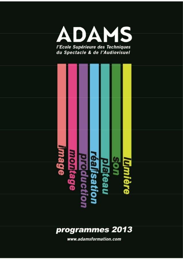 Brochure adams 2013