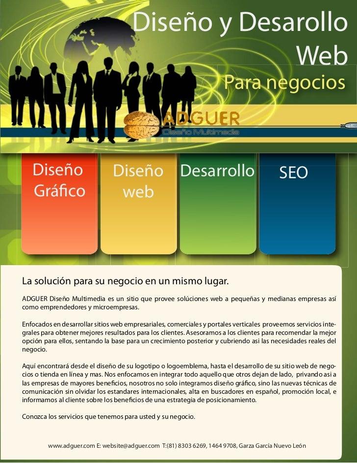 brochure de paginas web y servicios web creativos
