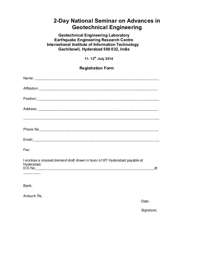 Brochure and registration form