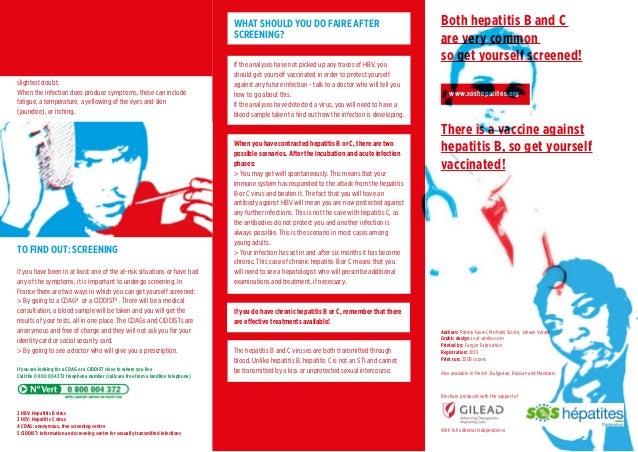 Brochure  anglais hep B&C: se dépister pour savoir et agir Slide 2