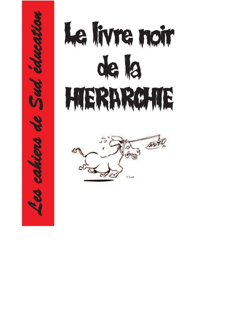 Les cahiers de Sud éducation   Le livre noir                                   de la                               HIERARC...