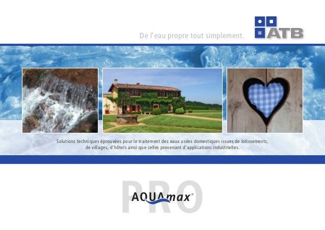 Del'eaupropretoutsimplement. solutionstechniqueséprouvéespourletraitementdeseauxuséesdomestiquesissuesdelo...