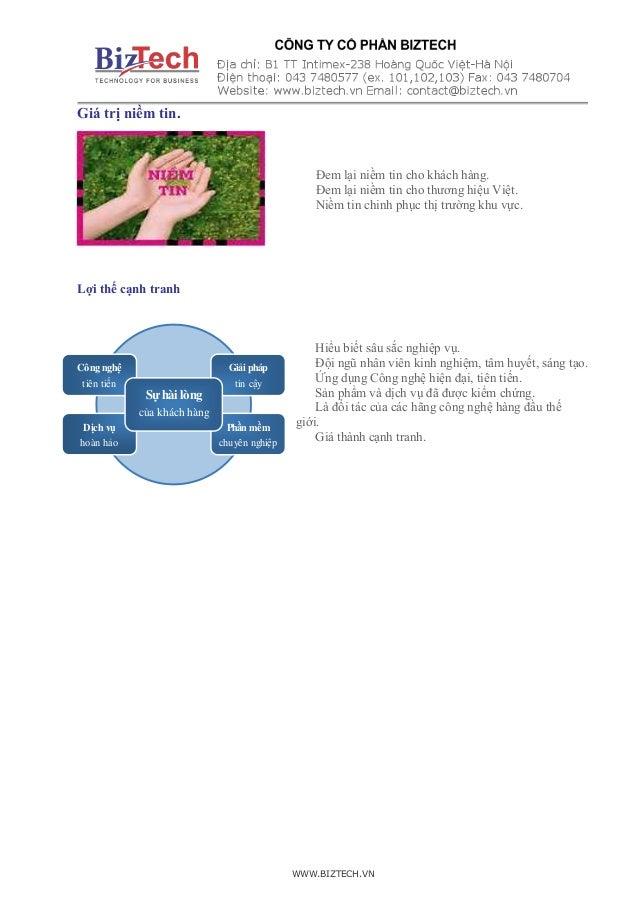 WWW.BIZTECH.VN Công nghệ tiên tiến Dịch vụ hoàn hảo Phần mềm chuyên nghiệp Giải pháp tin cậy Sự hài lòng của khách hàng Gi...