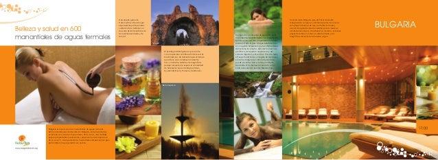 Belleza y salud en 600 manantiales de aguas termales  Una amplia gama de tratamientos ofrecidos por especialistas profesio...