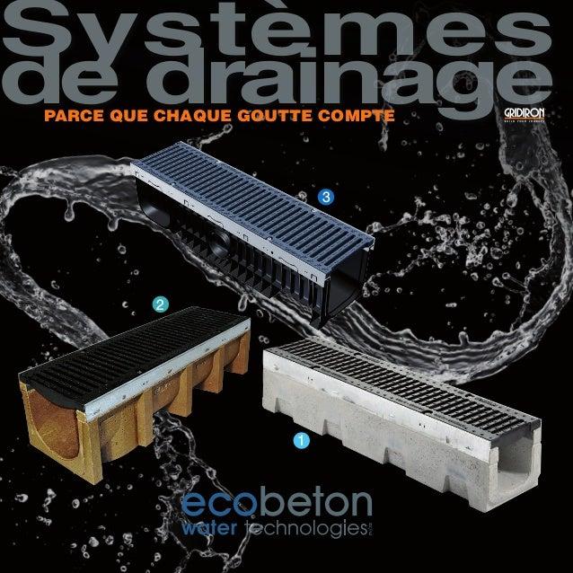 3 2 1 Systèmes de drainagePARCE QUE CHAQUE GOUTTE COMPTE
