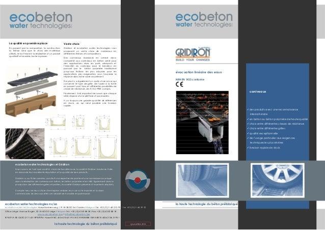la haute technologie du béton préfabriqué évacuation linéaire des eaux la haute technologie du béton préfabriqué www.ecobe...