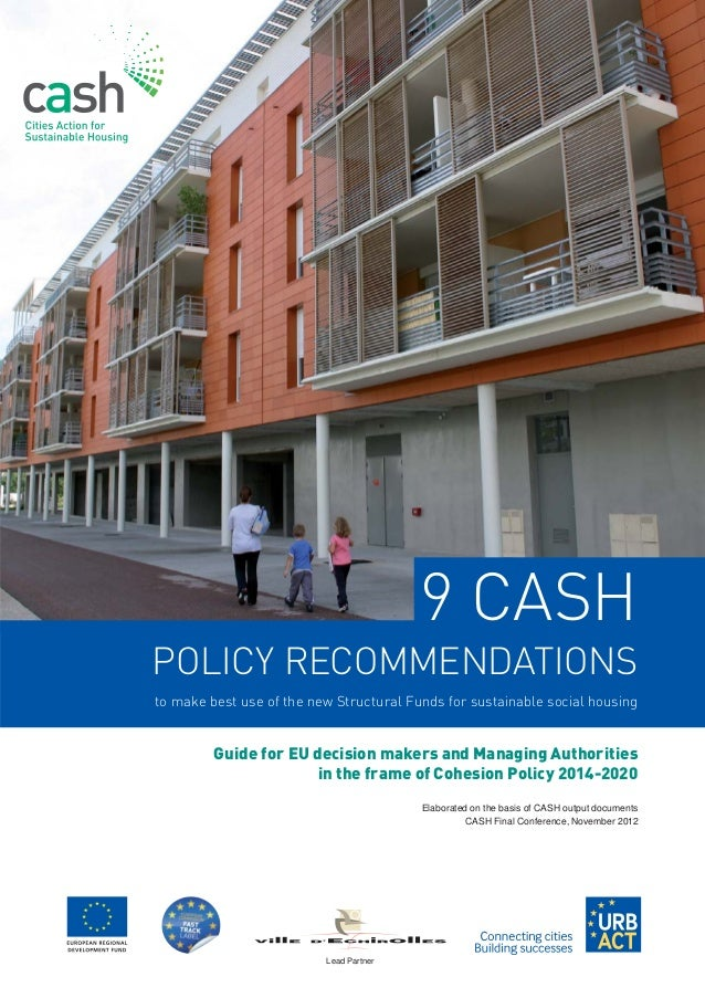 Guide for EU decision makers and Managing Authorities              in the frame of Cohesion Policy 2014-2020              ...