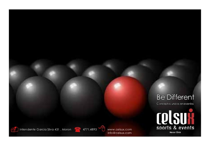 Be Different                                                                    Conceptos unicos en eventosIntendente Garc...