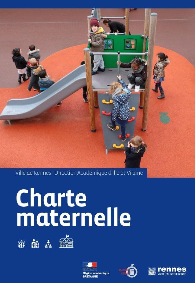 Charte maternelle VilledeRennes-DirectionAcadémiqued'Ille-et-Vilaine Région académique BRETAGNE