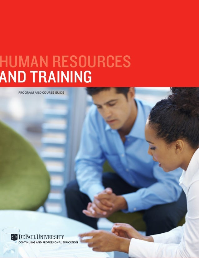 HUMAN RESOURCES AND TRAINING PROGRAM AND COURSE GUIDE