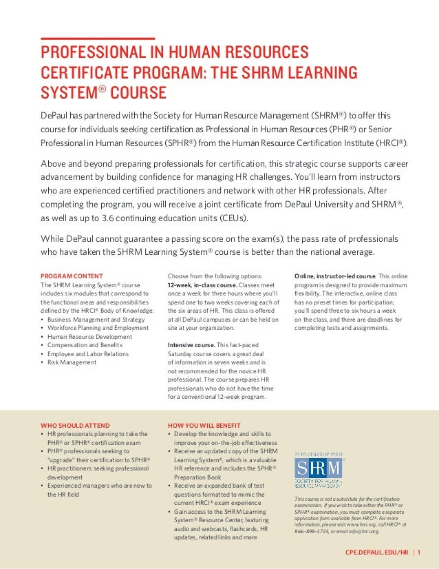 Center For Human Resources And Training Program And Course Guide 2013