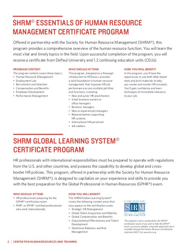 human resource master programs