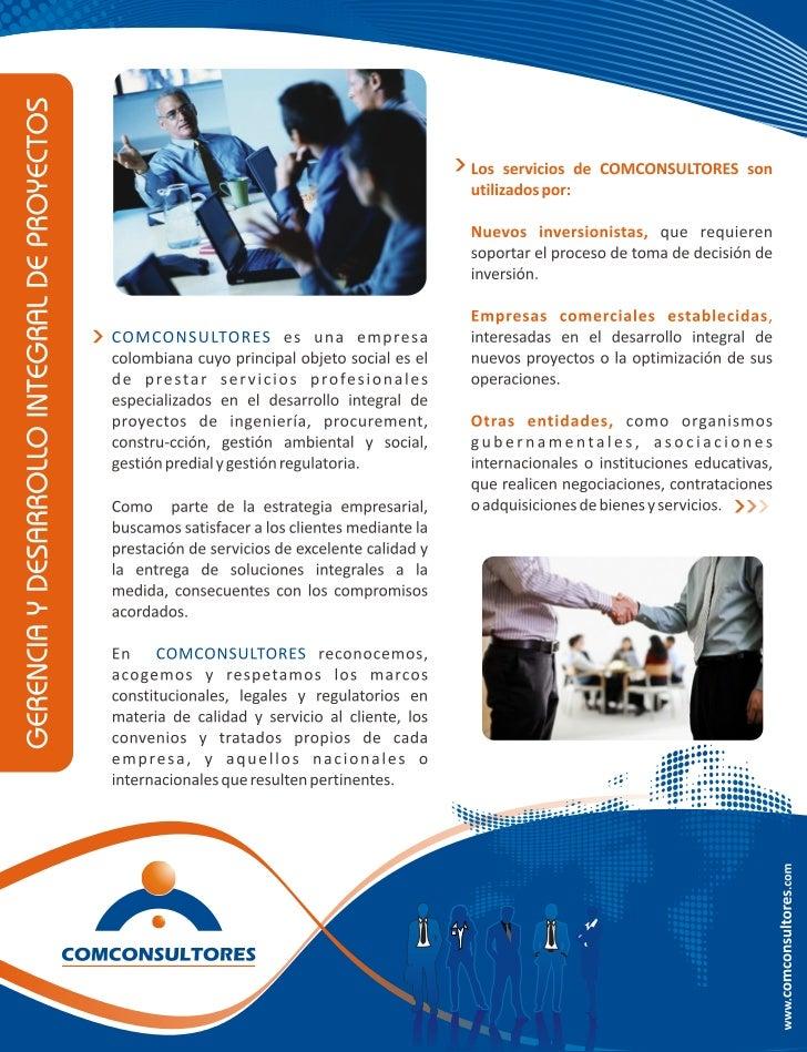 Brochure COMCONSULTORES
