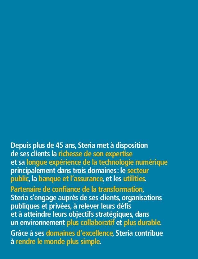 "Brochure Corporate Steria France 2014 ""Au coeur de la transformation digitale"" Slide 2"