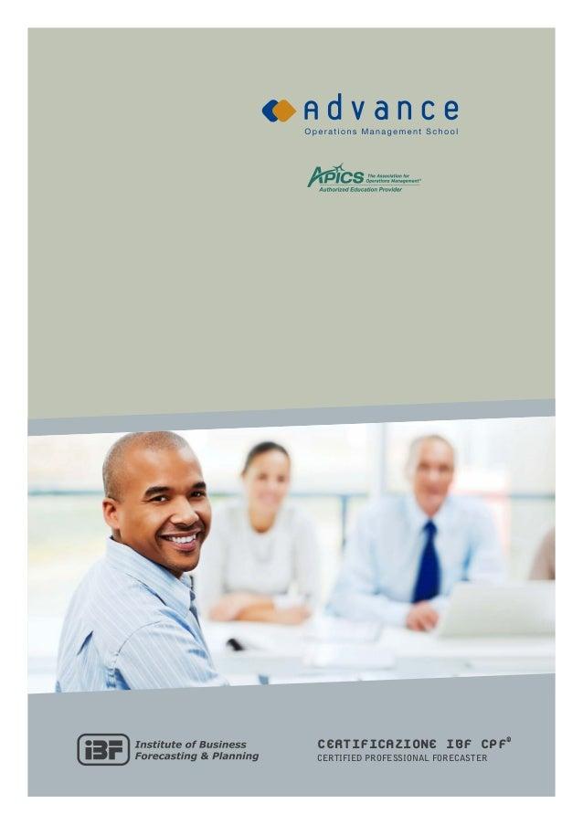 Certificazione IBF CPF®Certified Professional Forecaster                                    1