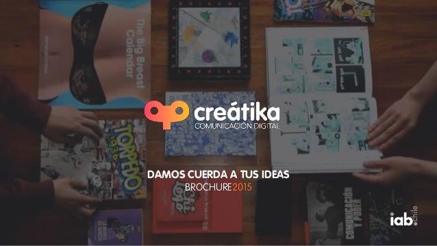 DAMOS CUERDA A TUS IDEAS BROCHURE2015