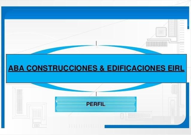 Brochure de empresa constructora peruana aba for Construccion empresa