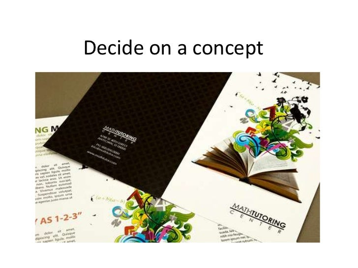 Decide on a concept