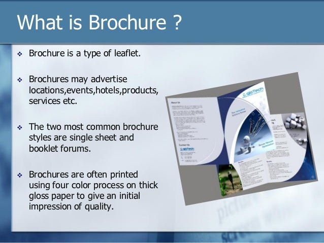 what is broucher