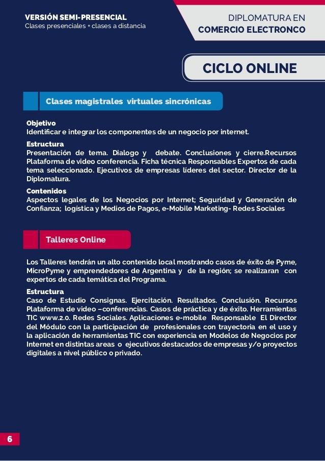 Diplomatura en Comercio Electronico y Negocios por Internet de la UNS…
