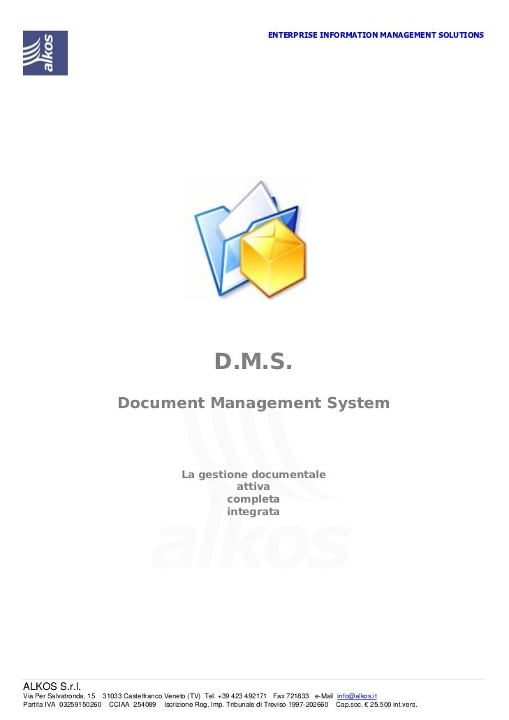 ENTERPRISE INFORMATION MANAGEMENT SOLUTIONS                                                         D.M.S.                ...
