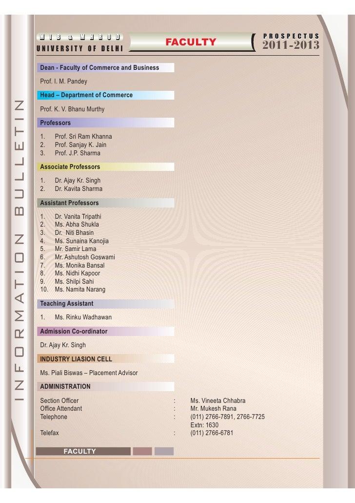 mhrod/mib admission brochure 2011-2013