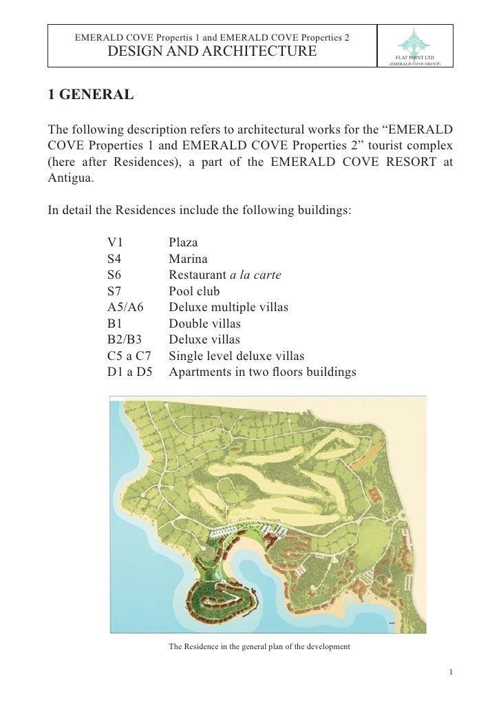 EMERALD COVE Propertis 1 and EMERALD COVE Properties 2           DESIGN AND ARCHITECTURE                                  ...