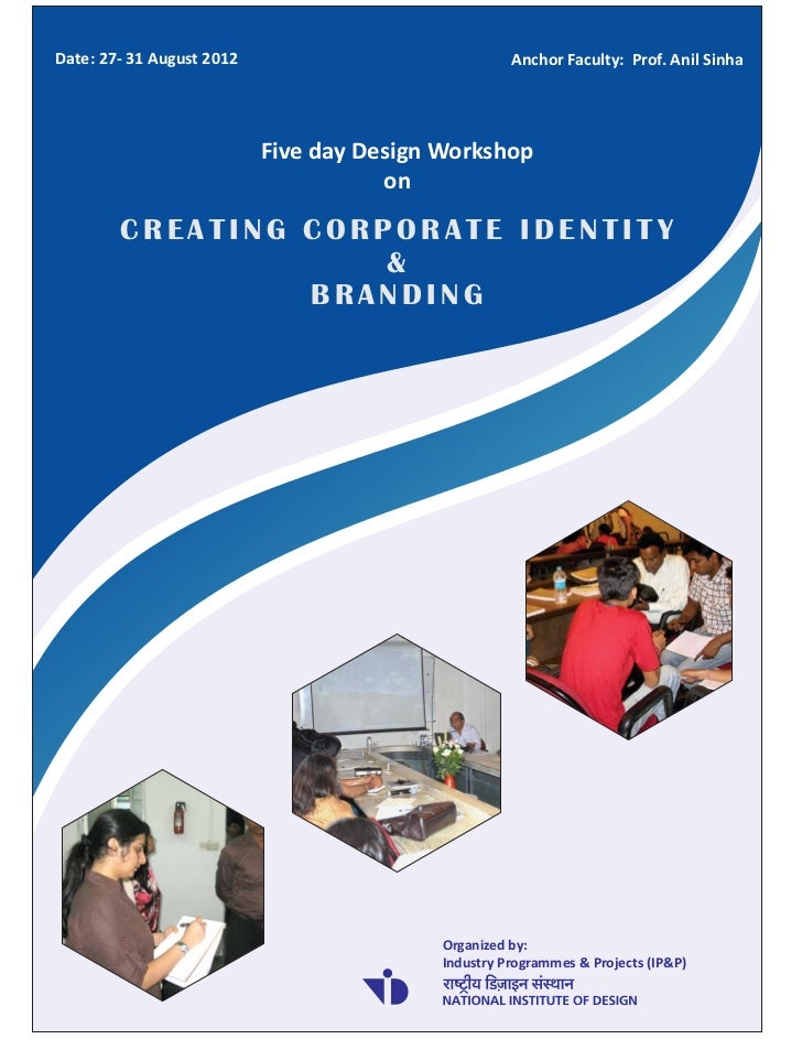 Brochure for design workshop on creating corporate for College brochure design pdf