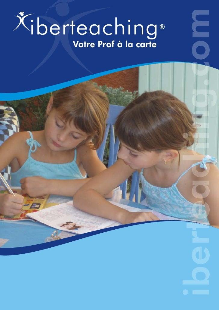 Qui sommes-nous               Iberteaching est d'abord un centre d'enseignement spécialisé dans le              soutien et...