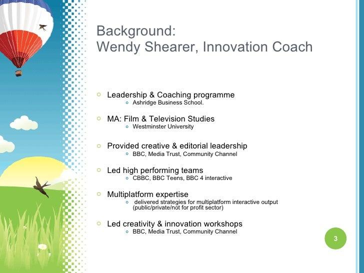 Innovation workshops Slide 3