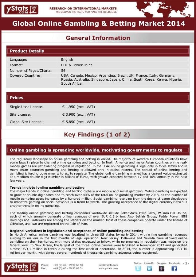 Global Online Gambling & Betting Market 2014 slideshare - 웹