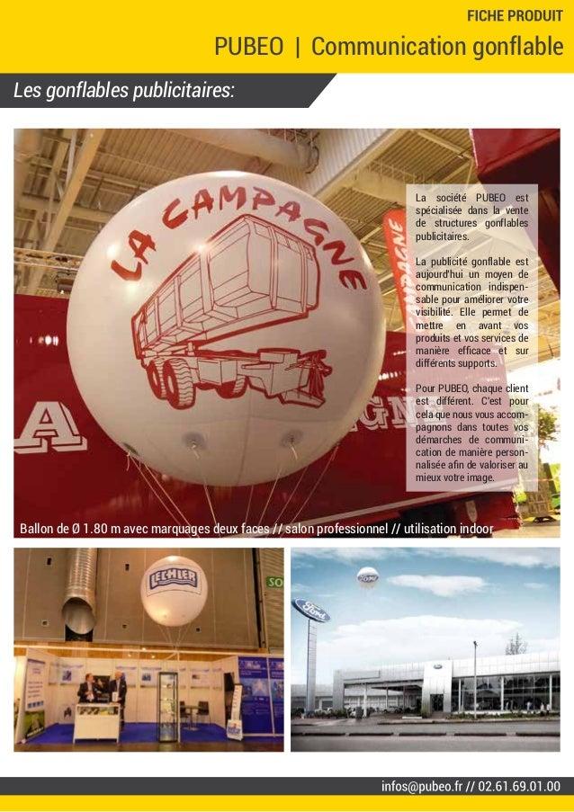 Les gonflables publicitaires: PUBEO | Communication gonflable La société PUBEO est spécialisée dans la vente de structures...
