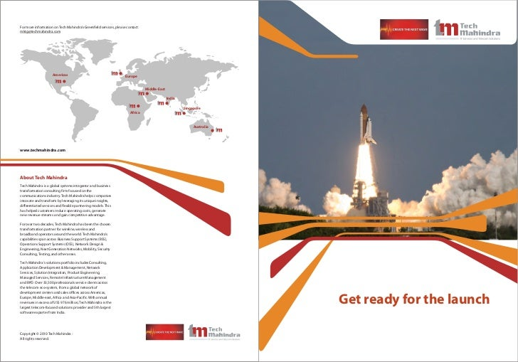 For more information on Tech Mahindra's Greenfield services, please contact:mktg@techmahindra.com                     Amer...