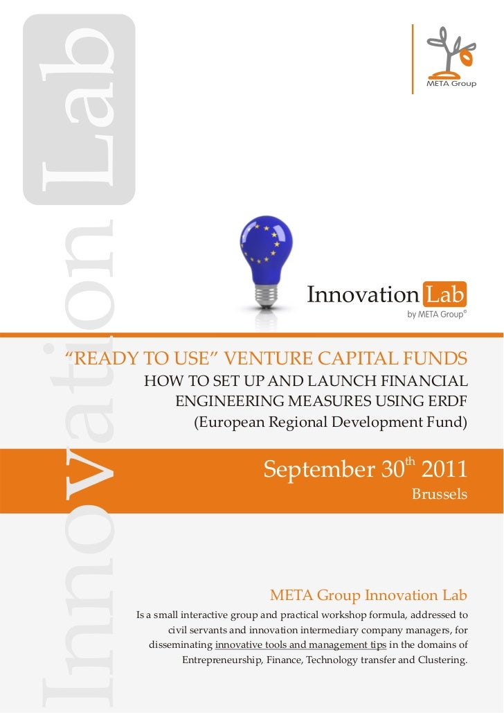 """READY TO USE"" VENTURE CAPITAL FUNDS       HOW TO SET UP AND LAUNCH FINANCIAL         ENGINEERING MEASURES USING ERDF     ..."