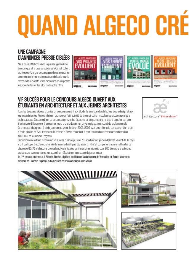 Construction modulaire algeco leader mondial des for Algeco maison individuelle
