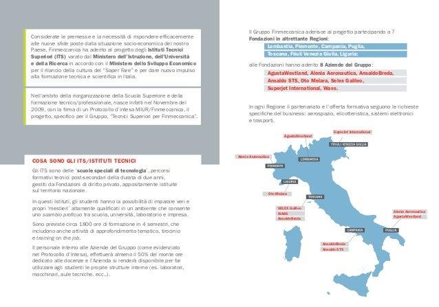 Istituti tecnici superiori finmeccanica brochure for Istituti tecnici